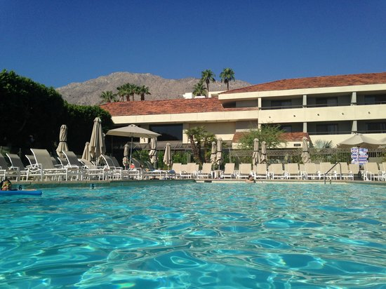 Hilton Palm Springs: Nice pool and view.