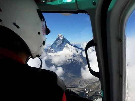 Hotel Central: Aerial view of Matterhorn, an hour's train ride from the hotel
