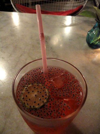 La Maison Rose : Pink Caravelle drink - non alcoholic yet highly recommended