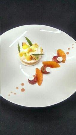 Le Restaurant des Rois : dessert pêche verveine