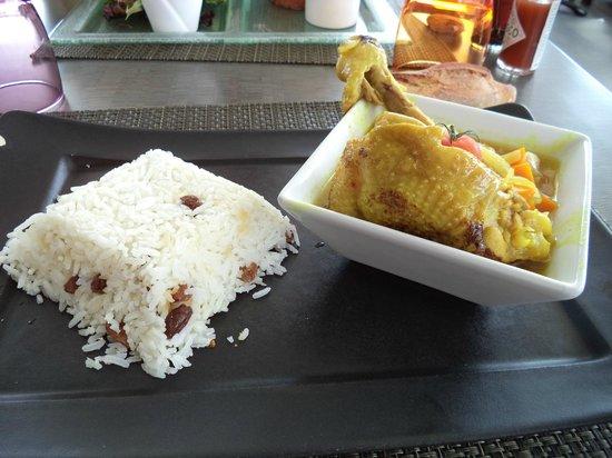 Brasserie club 15: poulet épices et riz basmati