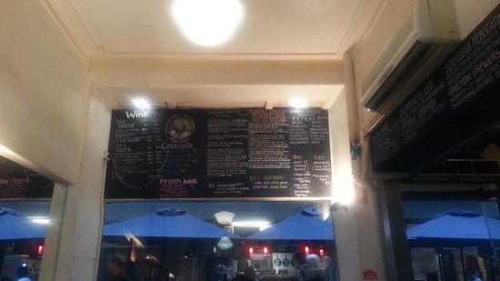 Degraves Espresso Bar: The menu.