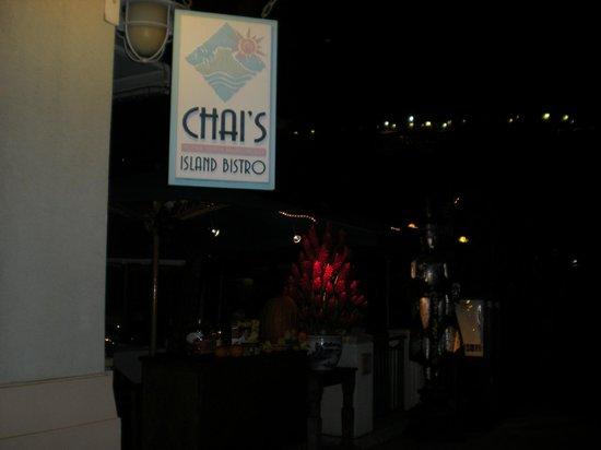 Chai's Island Bistro: 店前