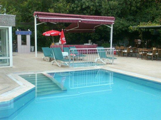 Oylum Garden Hotel: Pool/buffet breakfast area.