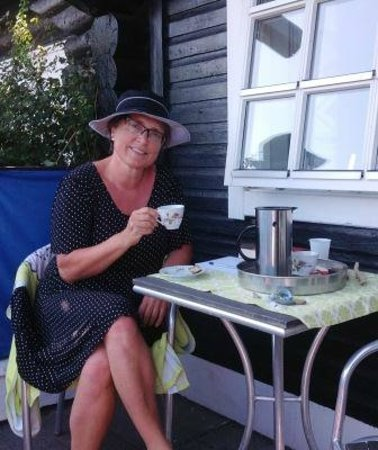 Finn's Pension Hotel : Kaffe på terrassen