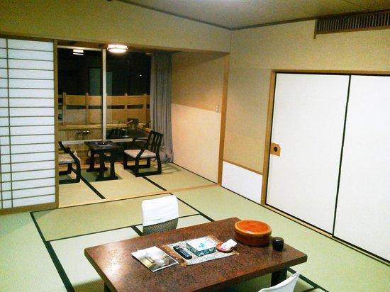 Hotel Tatsuki : 宿泊した露天風呂付き客室