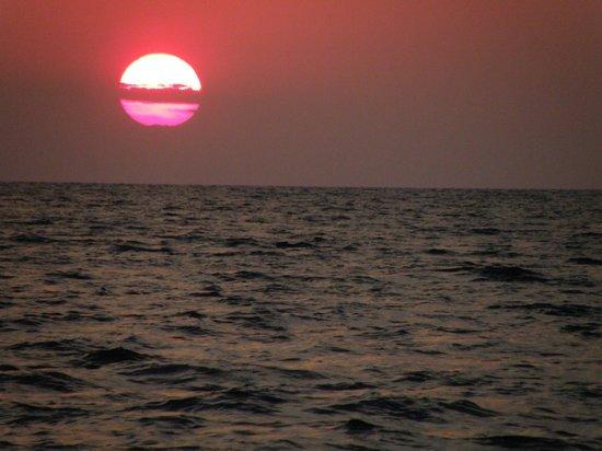 Porto Carras - Meliton: sunset from the beach