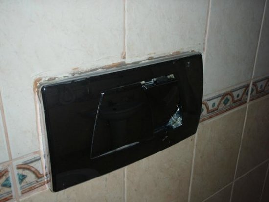 Sadeen Hotel & Suites: Toilet flush in suite