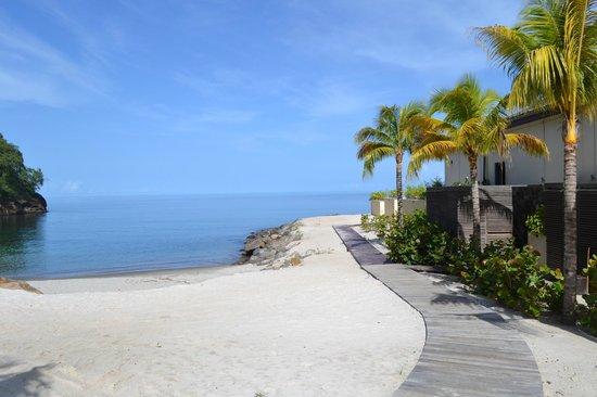 Buccament Bay Resort: part of the beach
