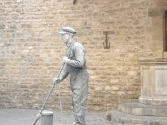 Piazza della Signoria: artista di strada in piazza