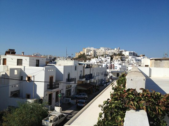 Adriani Hotel : View of Naxos town from the terrace