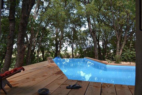 La piscine a d bordement picture of maison de la vigne for Maison piscine a debordement