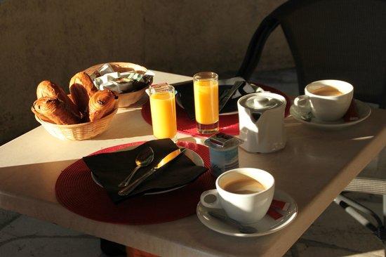 Auberge la Folie, Das Frühstück