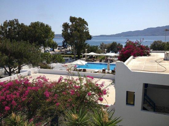 Lagada Beach Hotel: θέα από μπαλκόνι
