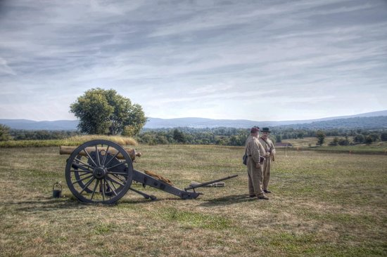 Antietam National Battlefield: cannon demonstration