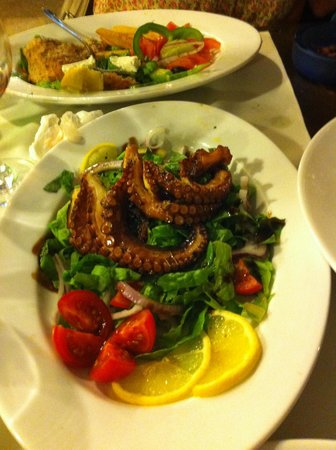 Captain's Cabin : Grilled Octopus + Salad