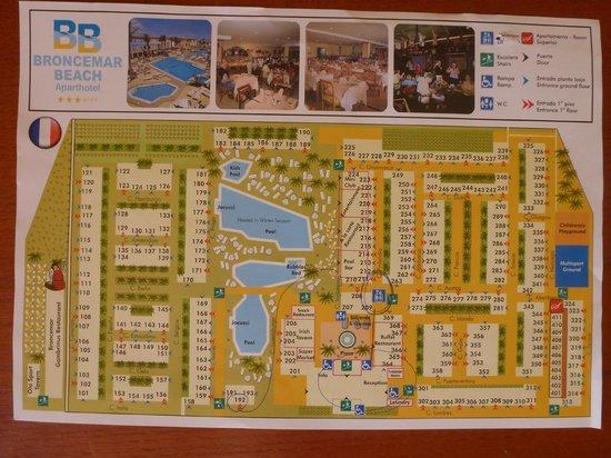 Broncemar Beach : Mapa hotelu