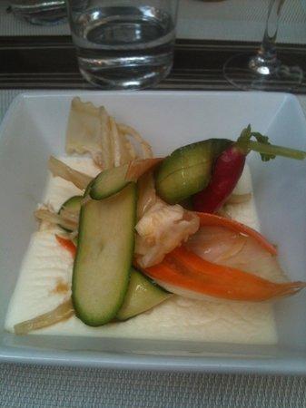 La Rom' Antique : Pannacotta chevre frais