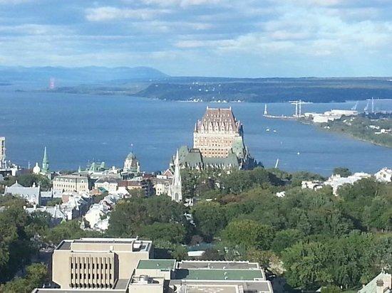 Hôtel Le Concorde Québec: vue de la chambre du 25e étage