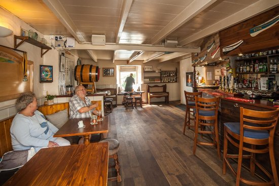The Old Quay Inn : A view of our bar area on a quiet opening time