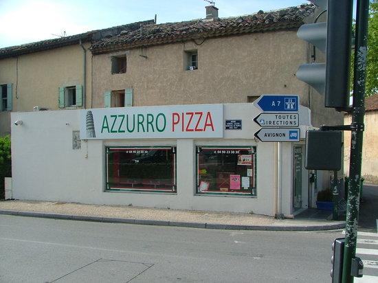 Azzurro Pizza : Façade côté pompiers