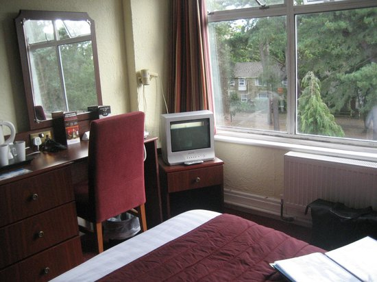 Bay Majestic Bournemouth Hotel: Room 305 portable TV and dining chair