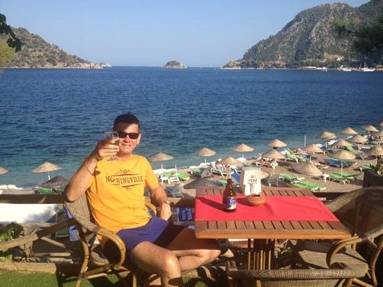 Cafe del Mar : One of my favourite tables in Icmeler. And what a view!!