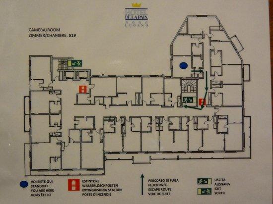Hotel de la Paix: Floorplan