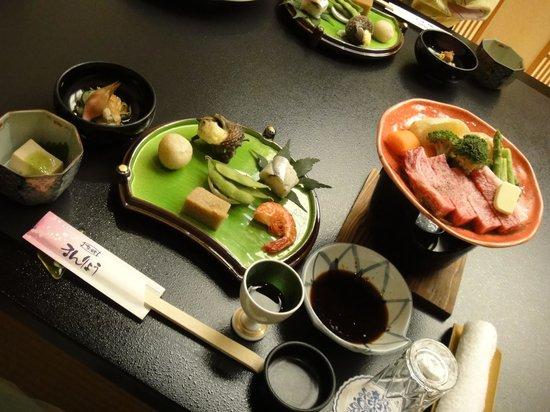 Ryokan Manryo: 夕食