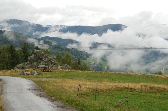Les Terrasses du Lac Blanc : Nebelschwaden in den Bergen der Vogesen