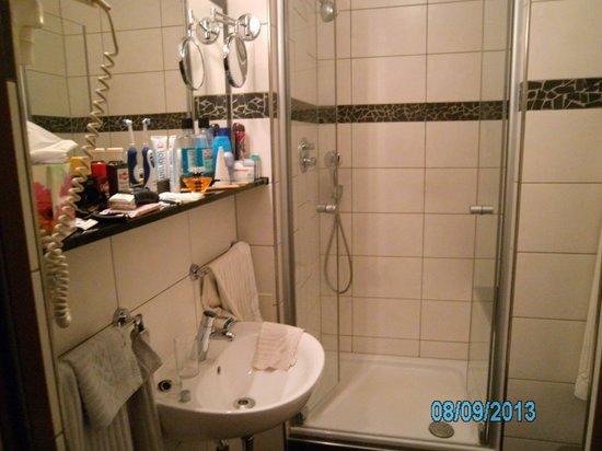 Hotel Garni Am Domplatz: Bad mit moderner Dusche