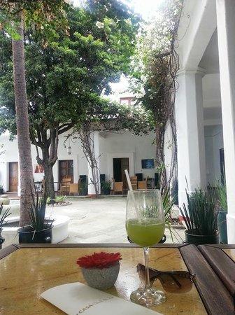 Casa Oaxaca: Pleasant Meal in the patio