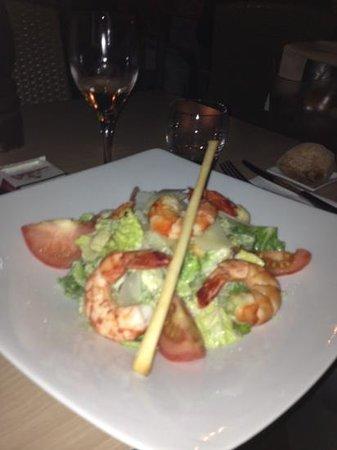 Le Repere : salade gambas