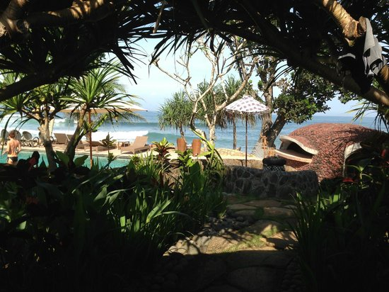 Pondok Pitaya: Hotel, Surfing and Yoga: View from room