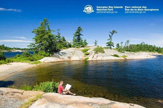 Honey Harbour, Kanada: The beautiful scenery at Honeymoon Bay on Beausoleil Island.