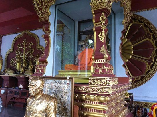 Mimosa Resort & Spa: Mummified monk on Koh Samui island