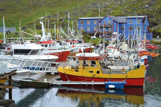 Hotel Arran Nordkapp: le petit port avec hotel second plan
