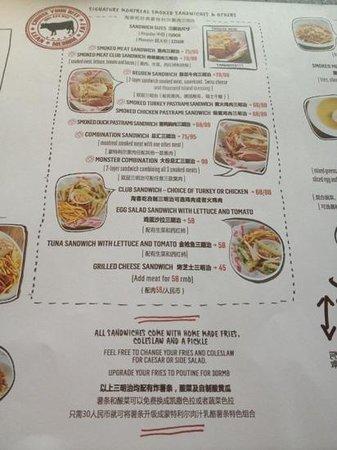 Tock's - A Montreal deli: Lunch Menu