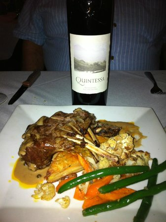 Collage Restaurant: Lamb Chops With Sherry Green Peppercorn Sauce~