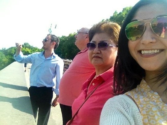 Shore Excursions in Italy : Federico showing us a great view of Rome!