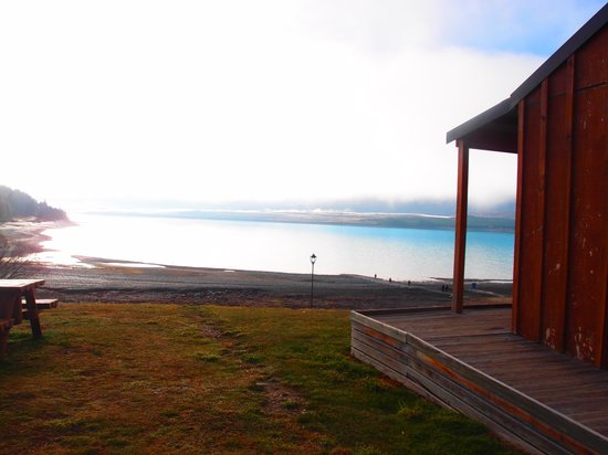 Lake Tekapo Motels & Holiday Park: View from outside of cabin