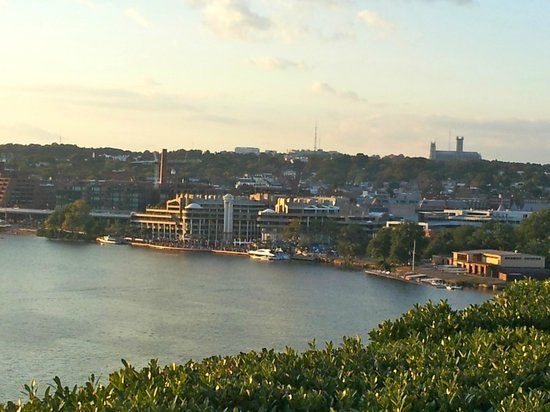 John F. Kennedy Center for the Performing Arts: Rooftop terrace views4 (looking toward Washington Harbour - Georgetown)
