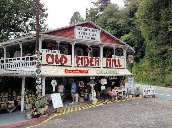 Bat Cave, NC: View of THE OLD CIDER MILL