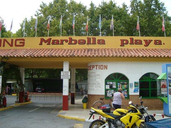 Camping Marbella Playa: entrada
