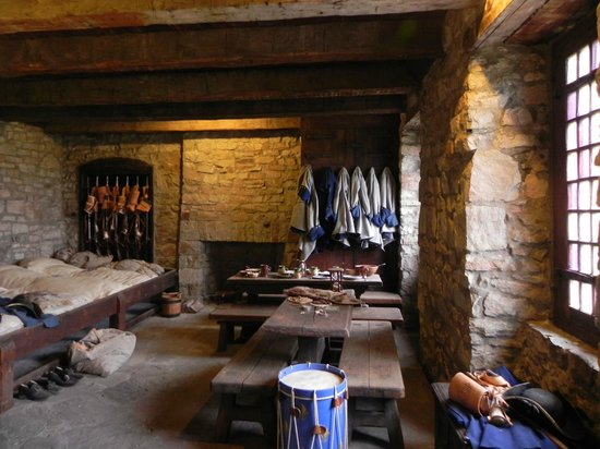 """Old Fort Niagara: Typical living quarters at the """"French Castle""""."""