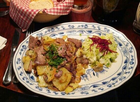 Batzen Brau : Arrosto di manzo con patate