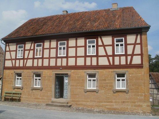 Frankisches Freilandmuseum Fladungen (open air museum): typisch huis in Noordfrankenland