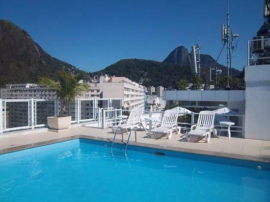 Atlântico Copacabana Hotel : A vista da área de lazer...