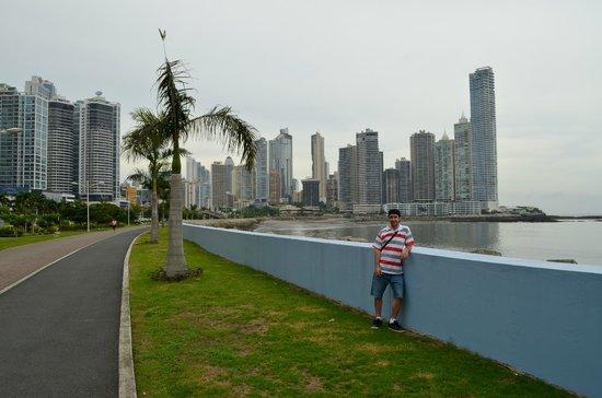 Plaza Paitilla Inn: La costanera y Punta Paitilla de fondo