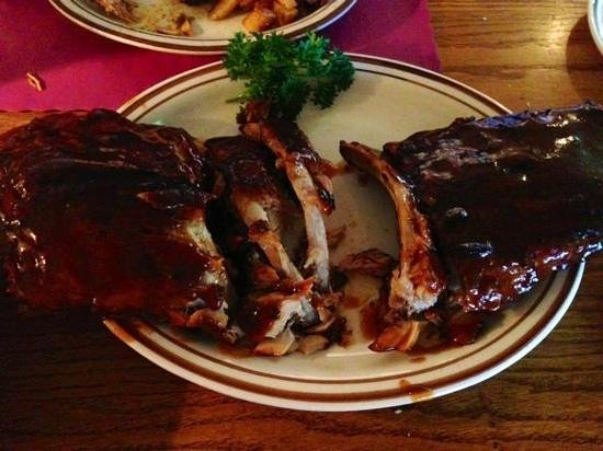 Hickory House: Great slab of tender, savory ribs!
